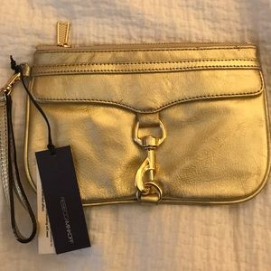 Authentic Rebecca Minkoff Gold Wristlet NWT!